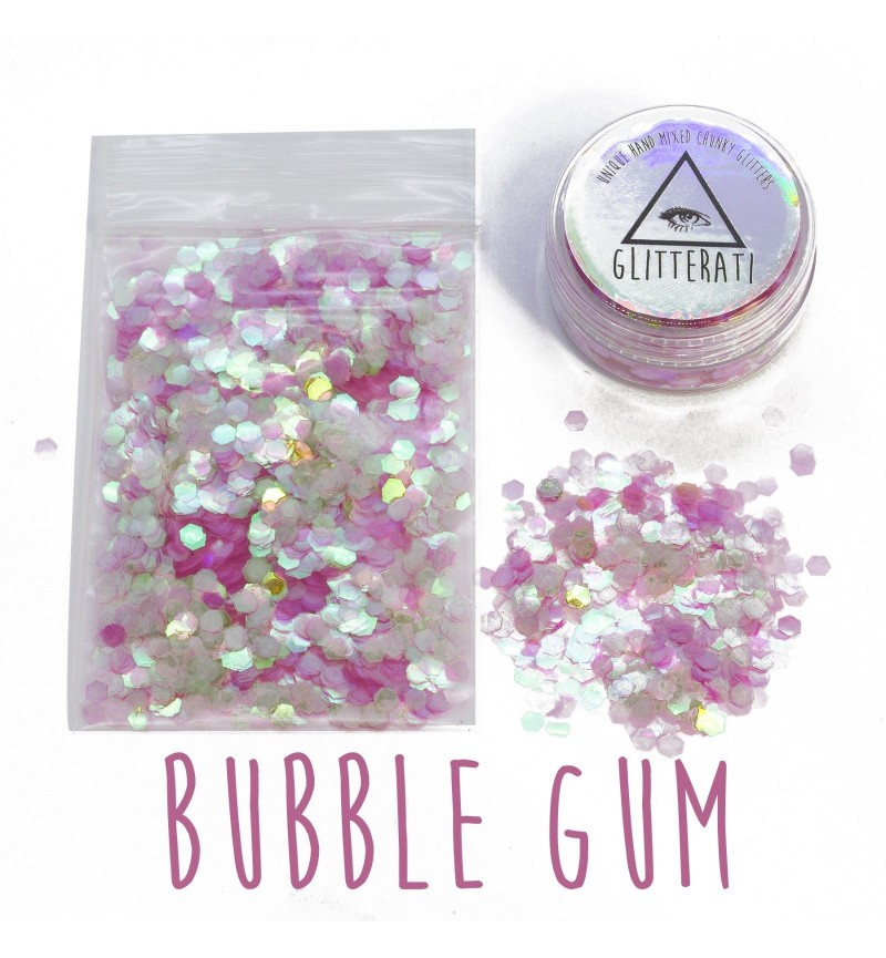 Bubblegum - 10g Pot - Chunky Mixed Festival Glitter For Face / Body or Hair