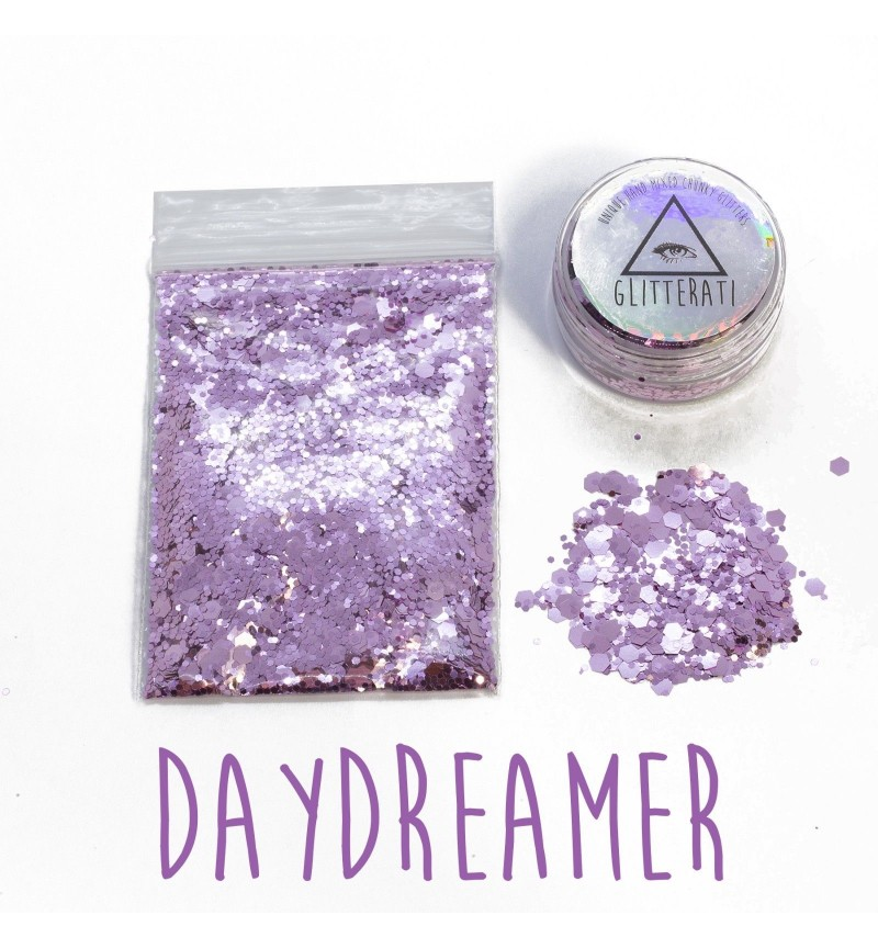 Daydreamer - 10g Pot - Chunky Mixed Festival Glitter For Face / Body or Hair