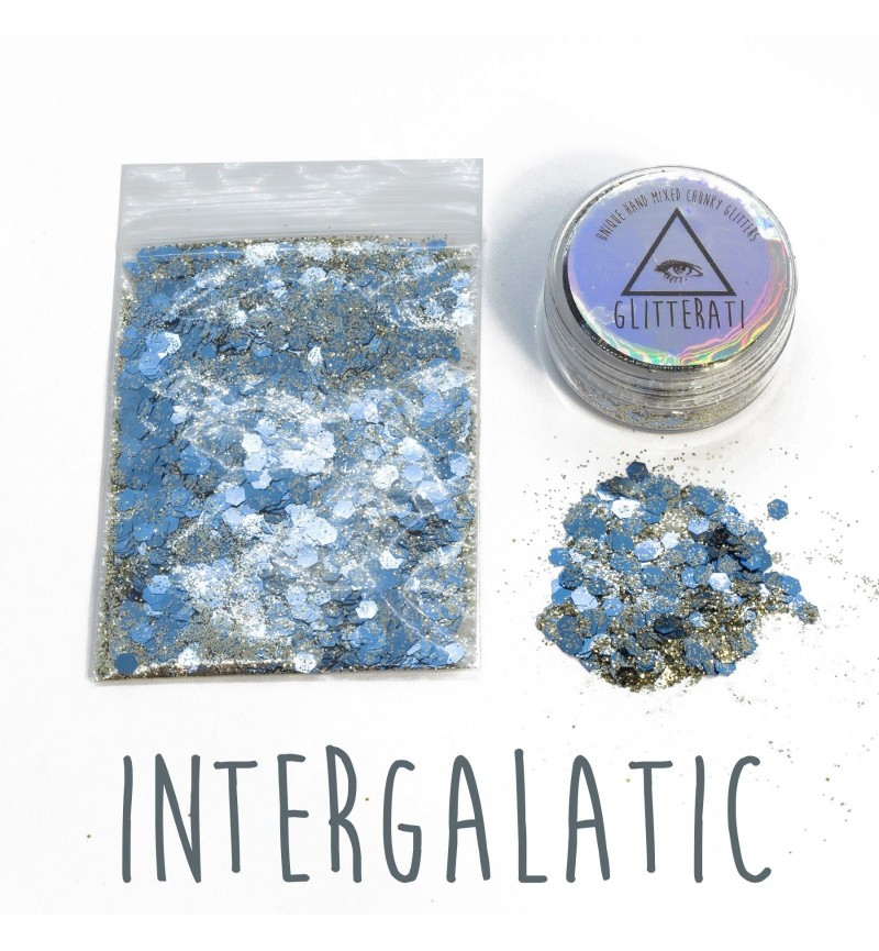 Intergalactic - 10g Pot - Chunky Mixed Festival Glitter For Face / Body or Hair