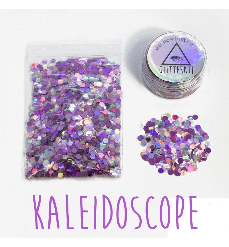 Kaleidoscope - 10g Pot - Chunky Mixed Festival Glitter For Face / Body or Hair