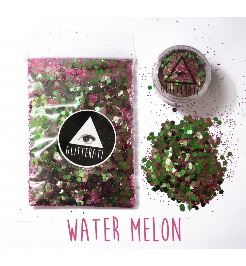 Watermelon - 10g Pot - Chunky Mixed Festival Glitter For Face / Body or Hair